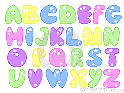 Plump alphabet