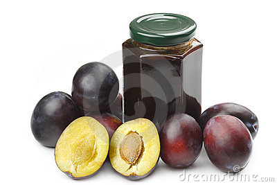 Plums and jam