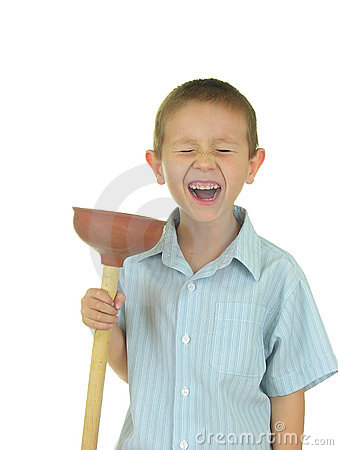 Free Plunger Kid Royalty Free Stock Photography - 368397