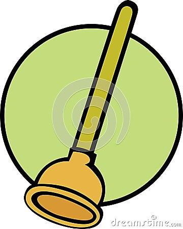 plunger vector illustration