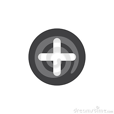 Free Plus, Add Flat Icon. Cross Round Simple Button, Circular Vector Sign. Stock Photo - 95310720