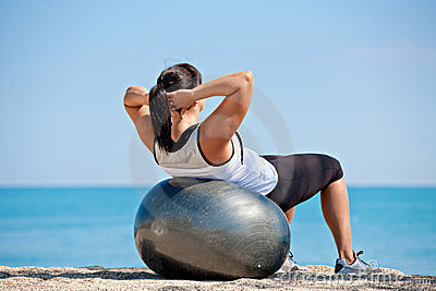Plus Size Female Exercise Outdoor