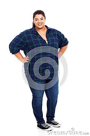 Plus size woman
