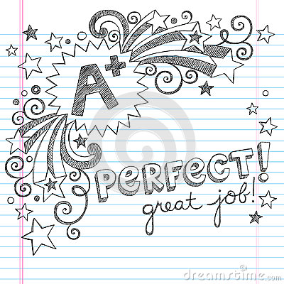 A Plus Student- Great Grades School Sketchy Doodle