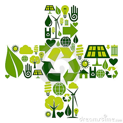 Plus Symbol With Environmental Icons Royalty Free Stock Photo - Image: 21859145
