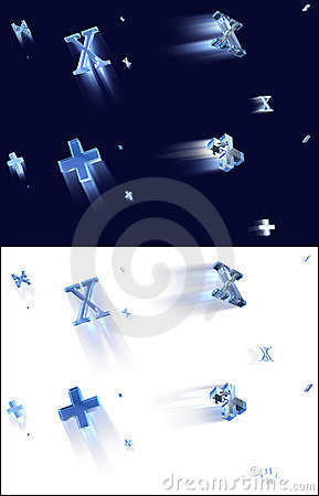 Free Plus X Flying Signs Stock Photography - 3080172