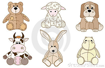 Plush animals toys