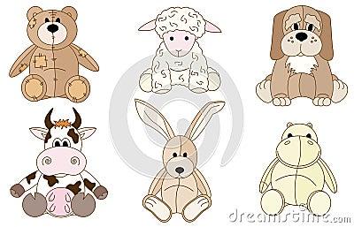 Plush animals toys