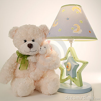 Plush bear and lamp