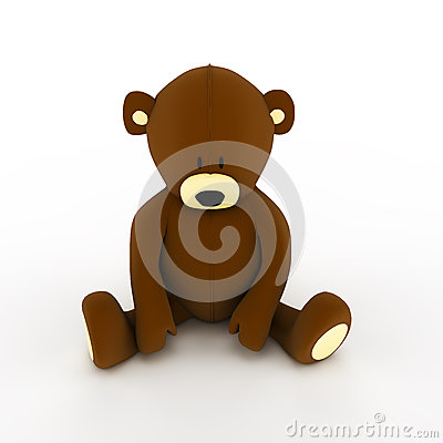Plush brown teddy bear