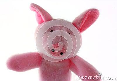 Plush Pink Toy Pig