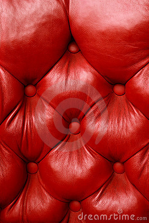 Plush red leather