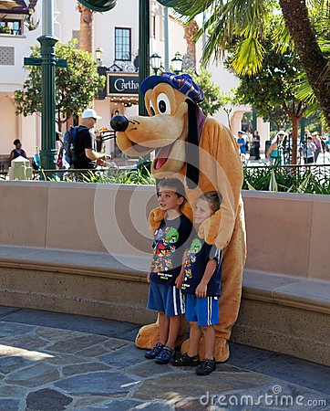 Pluto at California Adventure Editorial Image