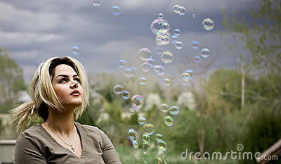 Plyaing with bubbles