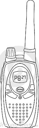 PMR radio vector outline