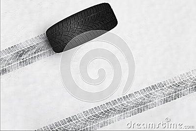 pneus d 39 hiver photo stock image 50176608. Black Bedroom Furniture Sets. Home Design Ideas