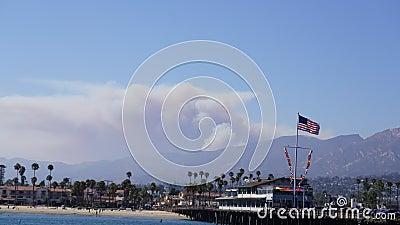Pożarniczy Santa Barbara okręgu administracyjnego Kalifornia czasu upływ zbiory wideo