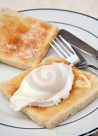 Free Poached Egg On Toast Royalty Free Stock Photography - 6233537