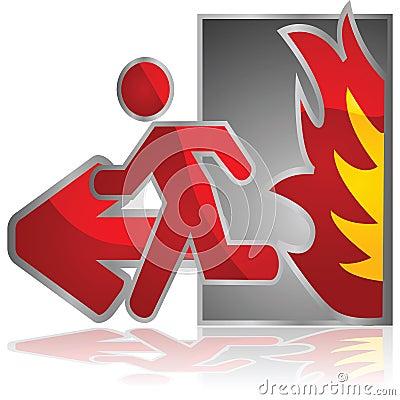 Pożarniczy wyjście