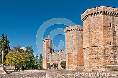Poblet Monastery Wall, Tarragona Province, Spain