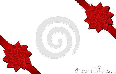 Pochyl świątecznej kawałki narożnikowych czerwonych