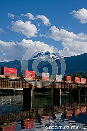Pociąg towarowy Fotografia Editorial