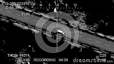 Pocisk uderza samochód ilustracja wektor