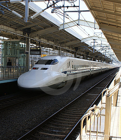 Pociska japończyka pociąg