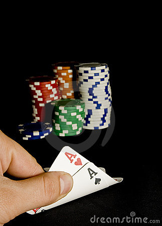 Free Pocket Aces Pair For Holdem Poker Stock Image - 13759231