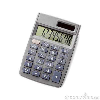 Free Pocket Calculator On White Background Royalty Free Stock Photography - 67083227