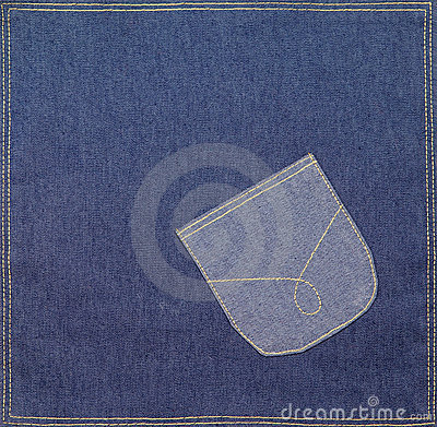 Pocket on a denim fabric