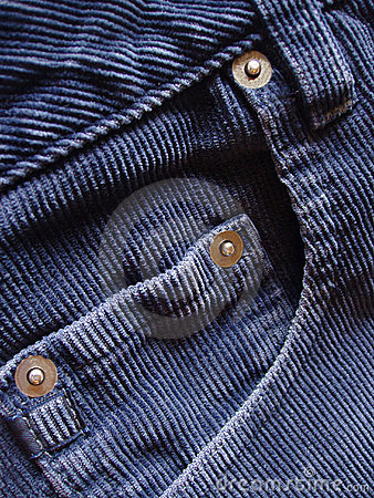 Free Pocket Details On Blue Cords Stock Photo - 650460