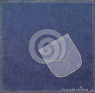 Free Pocket On A Denim Fabric Stock Image - 13754891
