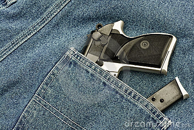 Pocket pistol and magazine
