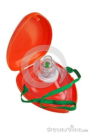 Pocket resuscitation mask.
