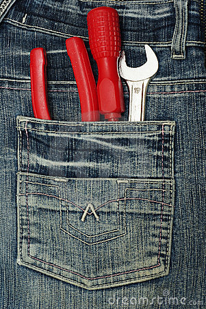 Pocket with tools