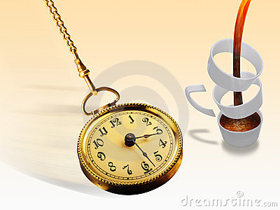 Pocket Watch and Coffee Cup