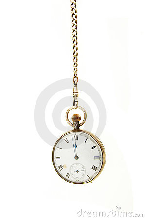 pocket watch hanging from a chain stock images image