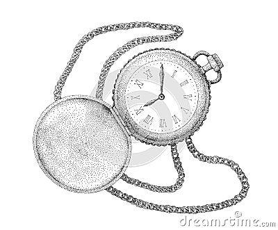 pocket watch stock vector image 52645974