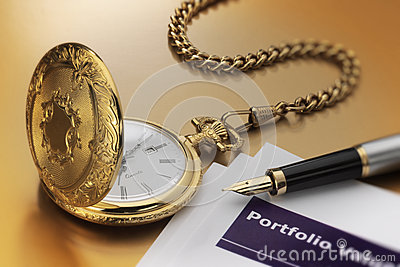 Pocket watch and pen
