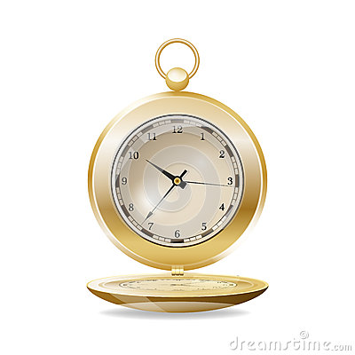 Pocket watch. Vector illustration