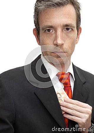 Pocketing a bribe