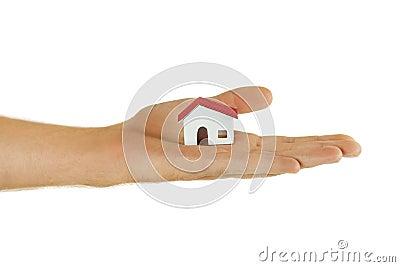 Poco modello di carta della casa del villaggio a for Disposizione della casa 3d