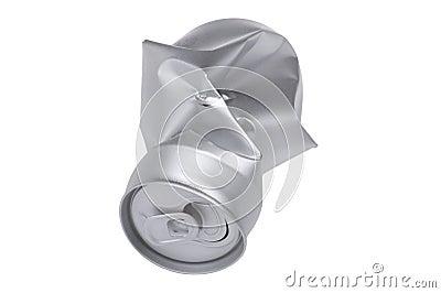 Poder de bebida arrugada gris en la macro blanca
