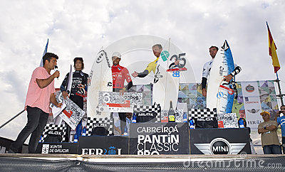 Podium of the 25th edition of Pantin Classic 2012 Editorial Photography