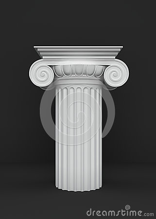 Podium of the classical column capitals