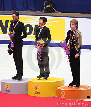 Podium - Men Figure Skating Editorial Image