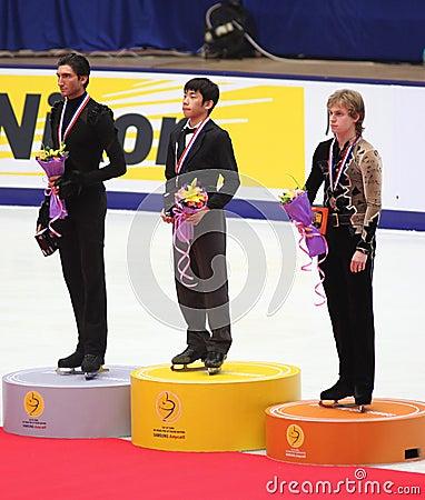 Podium - Men Figure Skating Editorial Image