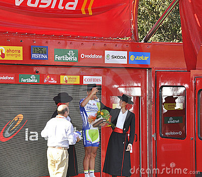 Podium stage 6 of the Tour of spain 2011 Editorial Photography