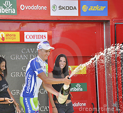 Podium stage 6 of the Tour of spain 2011 Editorial Stock Photo